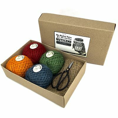 Nutscene Classic Twine and Scissors Gift Set 4 Spools