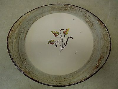 "Vntg Blue Ridge Southern Potteries, 13 1/2"" Meat Platter w/ Fall Harvest Pattern"