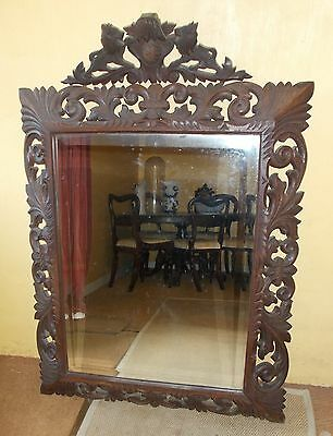 mirror, antique french mirror, carved wood mirror,