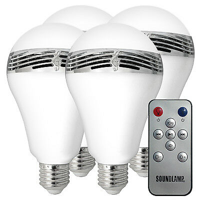 SOUNDLAMP Dimmable LED Light Bulb with a 3W Bluetooth Speaker with Remote
