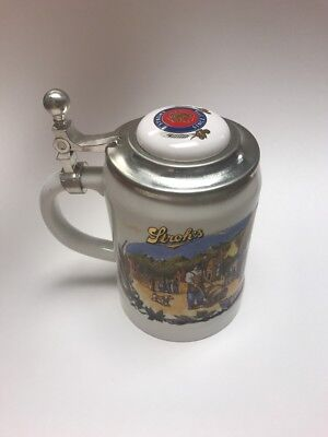"STROH'S BEER ""BAVARIA COLLECTION NO. II CERAMIC LIDDED STEIN Vintage Drinkware"