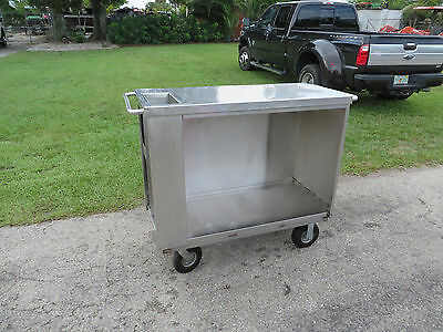 Portable Stainless Steel Bar Food Service  Tool Box Maids or Maintence Cart