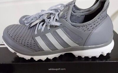 New In Box Adidas Men's Climacool Golf Spikeless, Golf Shoes Grey/White, Size 10
