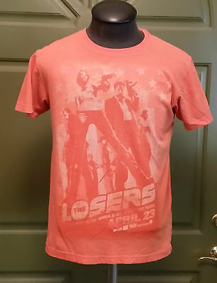 T-Shirt L Large The Losers Movie Action Promo alternative vintage soft 100% Cot