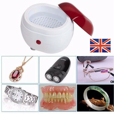 UK Ultrasonic Cleaner Cleaning Machine for Baby Jewelry Eyeglasses Watch lenses