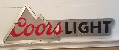 """2015 Coors Light Beer Bar Sign 36""""X 12"""" ~ LED NOT WORKING"""