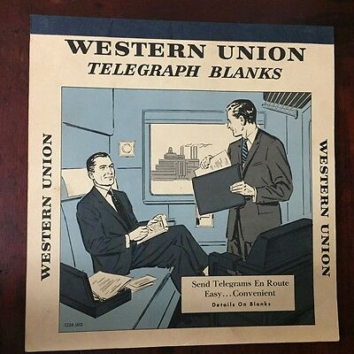 Vtg Telegram Telegraph Message Booklet Letter Western Union Rail Train Travel