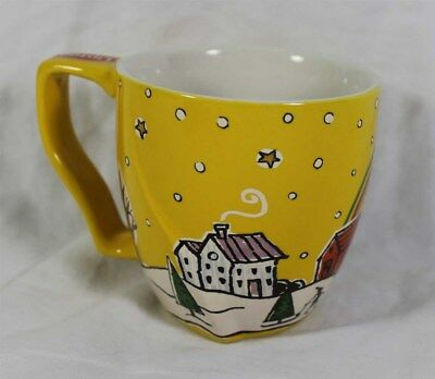 2009 Lipton Mug COLLECT YOUR RAINBOW MOMENT Town Scenery Artwork Yellow Stars