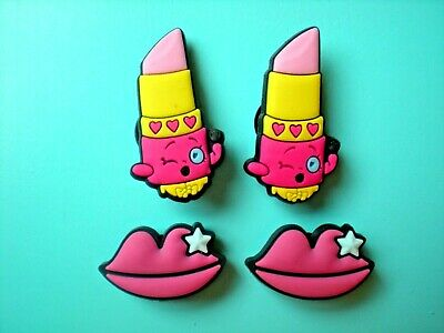 Clog Shoe Charms Button Plug Lip Stick Holey Accessories WristBand