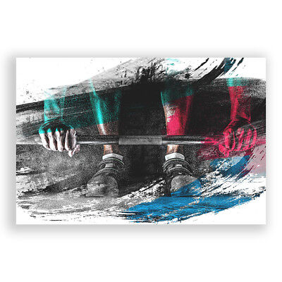 Poster Print Wall Art Body Building Fitness Weights 2 V2 Landscape Sport Décor