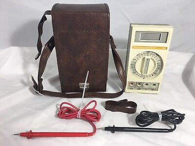Beckman Digital MultiMeter - Industrial 310 with Leads & Leather Carrying Case