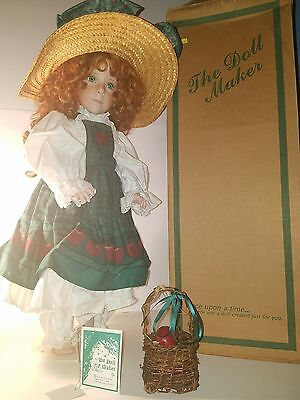 "Vintage Porcelain~ The Doll Maker~ ""Apple Annie~ By Linda Rich~ 24 inches tall"