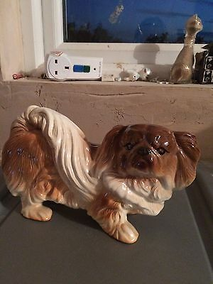 Melba Ware Penkingese Dog Figurine facting right - EXCELLENT CONDITION