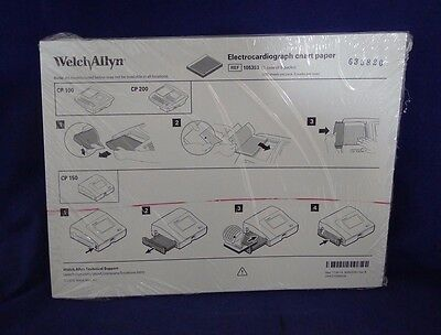 Welch Allyn 105353 Electrocardiograph Chart Paper Case of 5 NEW