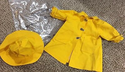 American Girl Molly Rain Slicker And Hat Only, Tagged Pleasant Company