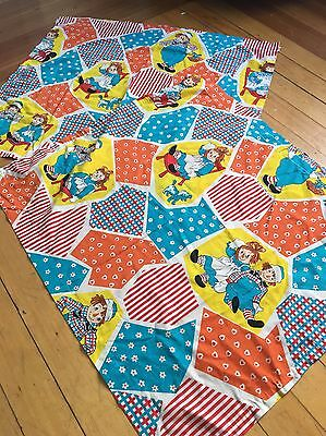 (4) Vintage Raggedy Ann Andy Bobbs Merrill curtains Set Antique 40s 50s 60s