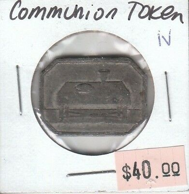 Canadian Communion Token - Lord's Supper Table Bread Wine - Ex Tanenbaum - iv