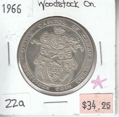 Woodstock Coin Club Medallion 1966 - Ontario Canada