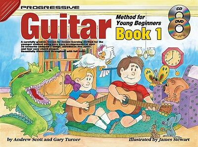 Progressive Guitar Method For Young Beginners Book 1 Cd + Dvd (Children's Book)