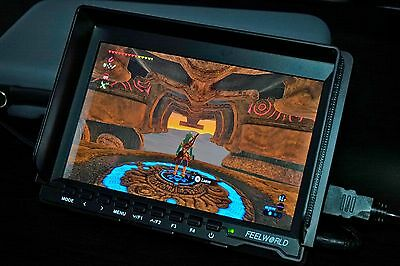 """Feelworld FW 7"""" ISP 1080P HD Video Monitor w/ HDMI cable & power adapter MINT"""