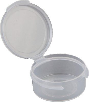 Consolidated Plastics Hinged Lid Vial Poly-Con Container, 1/2 oz., Clear, 100