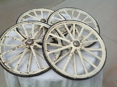 Vintage Antique Baby Carriage Stroller Wheels Buggy Carrier   CBF's 639