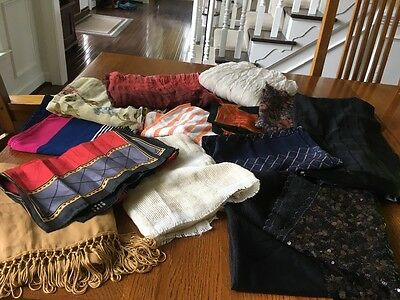 Womens Scarf Lot - 13 Total
