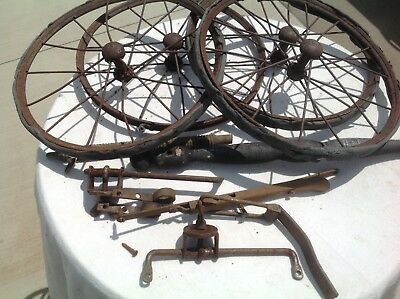 Antique Vintage Loyd  Buggy / Carriage Wheel/ Parts  / Wood Frame Pan CBF's 641