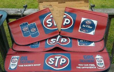 4 NOS in Original Box STP Fender Covers/Pads Air & Oil Filter Gas/Oil Treatment