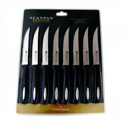 8pc Scanpan Microsharp Steak Knives Set Serrated/Stainless Steel Kitchen Cutlery