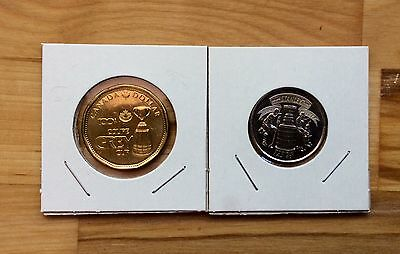 Canada BU 2012 100th Grey Cup Loonie + 2017 Stanley Cup 125th 25 Cent Coins