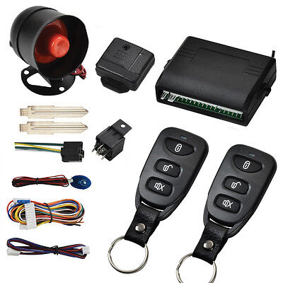 Car Vehicle Protection Alarm Security System Door Lock Keyless Entry System US