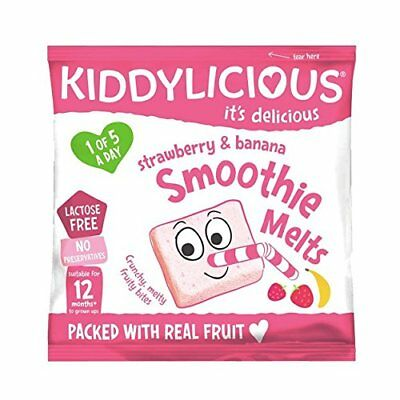Kiddylicious Strawberry and Banana Smoothie Melts 6g,  Pack of 16