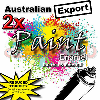 2x Australian Export Spray Paint Cans 250gm Fast Shipping 34 colours