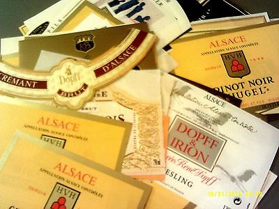160 different labels from ALSACE AOCs Lot C9 (see list)