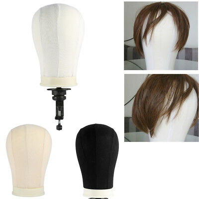 """20-25"""" Canvas Block Head for Making Wigs Display Styling Mannequin Manikin Head"""