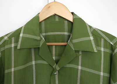Vintage Mad Men Towncraft loop collar shirt with embroidered front. M