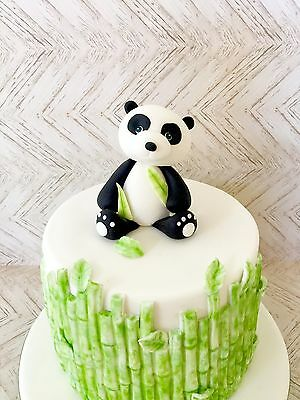 Edible Panda Cake Topper For Birthday Panda Theme Birthday Cake