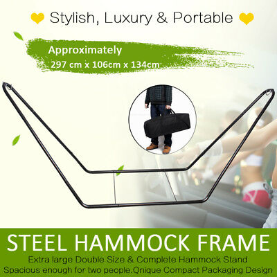 Hammock Stand Steel Heavy Duty Large Metal Frame Powder Coated Fits Most Sizes