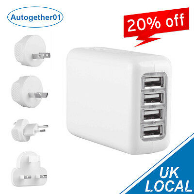 4 IN 1 Port USB Travel Wall Universal Charger Multi Adapter Fast Charge iphone