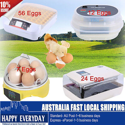 7/12/56 Egg Incubator Automatic Digital LED Turning Chicken Poultry Eggs Hatcher