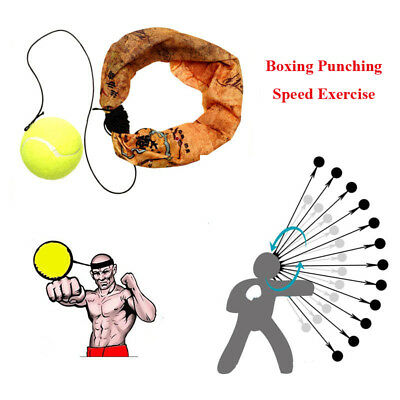 Portable Boxing Speed&Reflex Training Fight Ball with Headband Punching Exercise