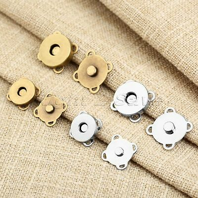 10 Sets Magnetic Quincunx Buckle 14/18mm For Clasps Closure Purse Handbag Bags
