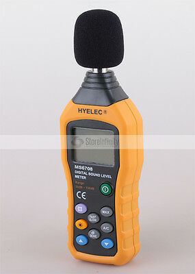 HYELEC MS6708 Digital Sound Pressure Noise Level Meter Decibel Tester 30-130dB