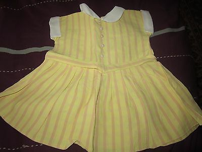 """Vintage Dolls Dress Yellow suit 20"""" doll Factory made"""