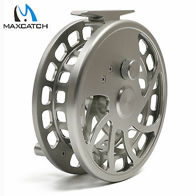 Float Fishing Reel Center Pin CNC Machined Cut Aluminum Alloy Body Silver