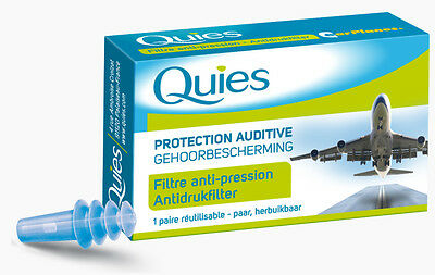QUIES Protection auditive AVION adulte filtre anti-pression 1 paire