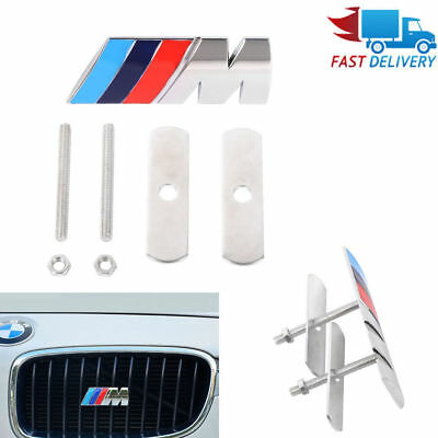 ///M Front Gille Grill Emblem M badge Sticker Car Metal Decal FOR BMW M3 M4 M5