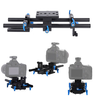 Universal 15mm Rail Rod Support System Baseplate Mount For DSLR Follow Focus Rig