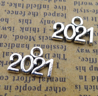 P1142 30pc Retro Tibetan Silver number 2020 Charm Beads Pendant Jewellery Making